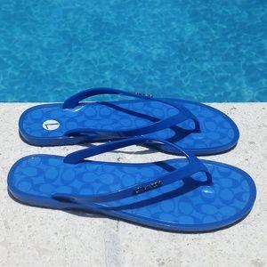 Coach Blue Flip Flops